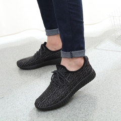 2018 New Men Summer Mesh Shoes Loafers Water shoes Walking lightweight Comfortable Breathable black 44