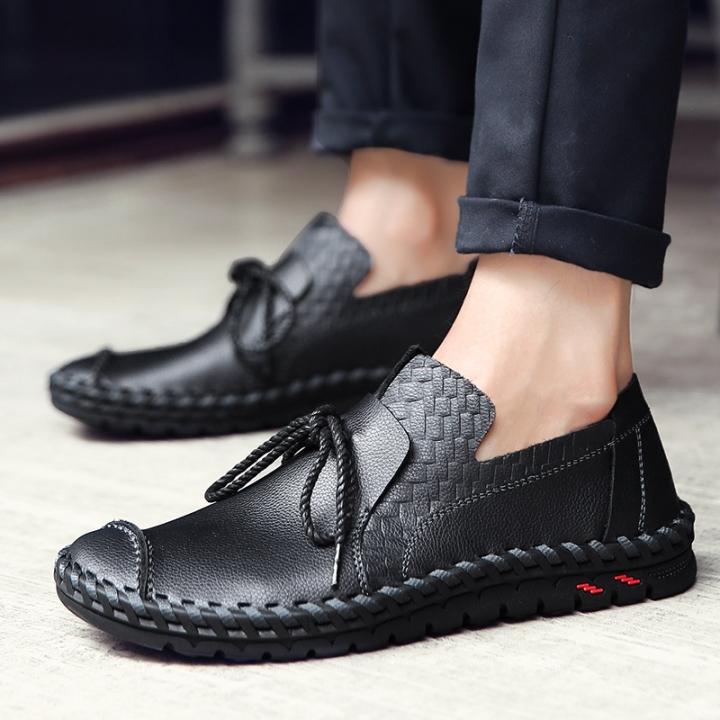 Genuine Men Shoes Elegant Hand Sewing