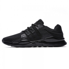 men fashion breathable casual shoes spring young Cheap high quality Comfortable light sneakers black 39