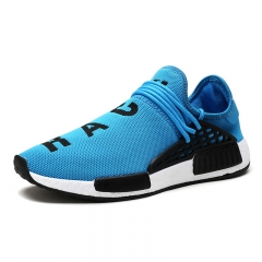 Men Shoes Outdoor Trainers Breathable Casual Superstar Shoes Human Race blue 39