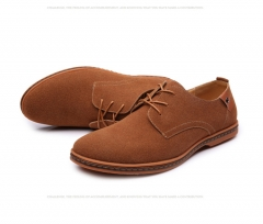 2018 Hot Sale Fashion Men Suede Leather Casual Shoes men  Casual Men Shoes Lace Up Shoes Men brown 38