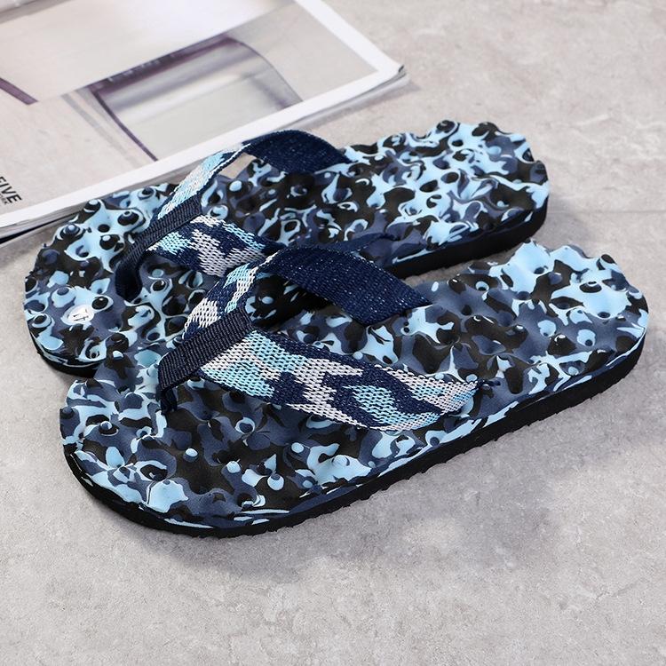 69d6eb08edee Men Summer Camouflage Flip Flops Shoes Slippers Sandals indoor ...