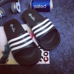 2018 Casual Plaid Stripes Men Sandals Slippers Summer Fashion Men Outdoor Casual Beach Shoes black 40