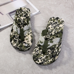 Men Summer Camouflage Flip Flops Shoes Slippers Sandals indoor outdoor Flip-flops Men Beach Shoes army green 43