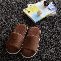 Men Shoes Slippers Home Bedroom Soft Slippers Home Indoor Sweat Non-slip  Cotton Slipper Shoes brown 43