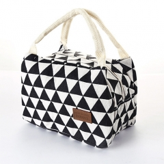 Fashion For Women Kids  Canvas Box Tote Bag Thermal Cooler Food Lunch Bags Picnic Food Bag colour 01 20.5cm×14cm×15cm
