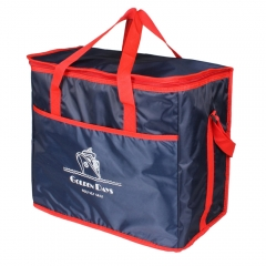 Extra Large Thickening Pack Insulated Lunch Bag Cold Storage Bags Fresh Food Picnic Container dark blue CL800-1/38L