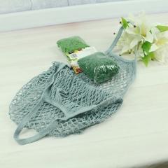 Reusable Fruit Shopping String Grocery Shopper Cotton Tote Mesh Woven Net Bag blue 50cm×40cm