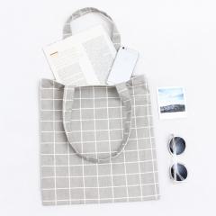 Women Student Cotton Linen Shoulder Tote Handbag Eco Shopping Large Capacity Canvas Purse Pouch colour 01 33cm×38cm