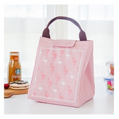 Tote Thermal Bag Black Waterproof Oxford Beach Lunch Bag Food Picnic Women kid Men Cooler Bag pink 19cm×17cm×12cm
