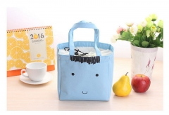 Aluminum foil Cartoon hand holding thick insulation lunch box cooler bag ice pack storage package blue 406×380×100mm