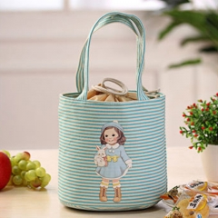 Fashion Cooler Bags Thermal Insulated Box Tote Cooler Bag Bento Pouch Lunch Storage Case blue 35cm×18.5cm