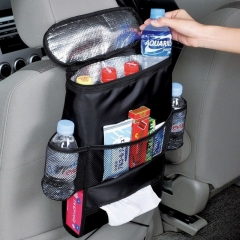 Auto Food Beverage Storage Organizer Bag Nsulated Container Basket Picnic Lunch Dinner Bag Ice Pack black 49cm×33cm