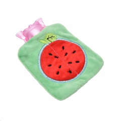 Rubber HOT Water Bottle Bag Hand Feet Warming Plush Warm Relaxing Heat Cold Hot-water Home Handbags colour 02 9.5cm×12cm