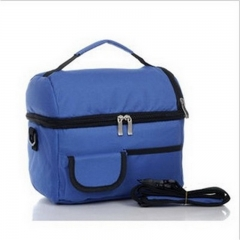 Large Cooler Bag High Quality Double Insulation Package Lunch Picnic Bag Waterproof Thermal Bag blue 23cm×25cm×16cm