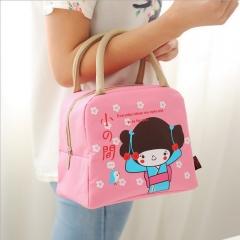 Fashion Hand Carry Picnic Cooler Bag Keep Food Large Bag Thermal Food cooler Bag Ice Pack Lunch Bags pink 24cm×16cm×20cm
