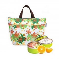 cooler bag keep Fashion Thickening thermal bags lunch box Large insulation package ice pack picnic green 21cm×11cm×5cm