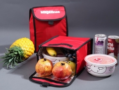 fold Thermal Waterproof Insulated Lunch Bag Carry Thickened Cooler Bags Food Insulation Picnic Bags red 23cm×18cm×12cm