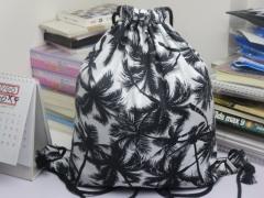 2018 new fashion travel softback man women harajuku drawstring bag mens canvas drawstring backpacks black 34cm×41cm