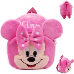 Fashion Kids Baby Girl Cartoon Shoulder Bag Pink Plush Backpack Toddler Schoolbag Satchel pink 21cm×23cm×6cm