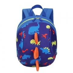 Anti-lost Kids Backpack  Printing Bags Children Backpacks Boy Girls Kindergarden School Backpack dark blue 19 inch