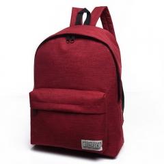 2018 Men women Backpack School Bags For Teenager Boy Girls Laptop Travel Backpacks Wine red 30cm×16cm×40cm