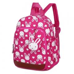 Anti-lost children's backpacks cute cartoon backpack kids school bags girls bag 1 ~ 6 years old rose red 21cm×30cm×10cm