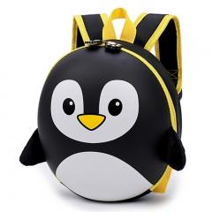 New EVA Penguin Schoolbag Children Backpack Hard Shell Backpack Cartoon Shoulder Bag black 12.5cm×27cm×10cm