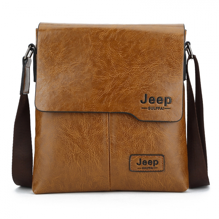New men's shoulder bag Korean leisure diagonal bag fashion man bag khaki 24cm×5cm×27cm