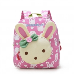 Cute Cartoon Little Rabbit Bear Baby kindergarten Bag High Quality Oxford Fabric Toddler Book Bag pink 23cm×12cm×27cm