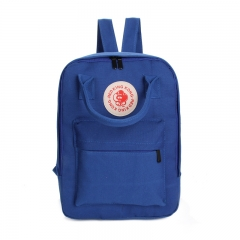 Hot Canvas Backpacks Multifunctional Women Backpacks School Bags for Girls Student Schoolbag dark blue 28cm×10cm×37cm