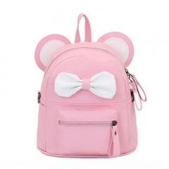 New girl shoulder bag dual-use small Diagonal School bag children cute bow small backpack pink 20cm×18cm×12cm