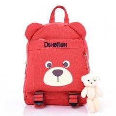 2018 Hot Sale Fashion Children School Bags Cartoon Bear Backpack Baby Toddler Boy Girl Backpacking watermelon red 23cm×31cm×12cm
