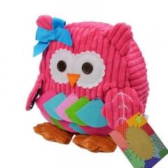 2018 School Bags for Girls Animal Student Backpacks Bag Wholesale Kids  Fashion Backpacks pink owl high 25cm