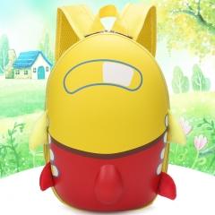 Girls School Bag Kids Cute Airplane Cartoon Eggshell children school bags Toddler School Bagpack yellow 20cm×32cm×7cm