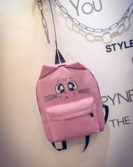 2018 Women Canvas Backpacks Printing School Bags For Teenagers Girl Rucksack Laptop Bagpack pink 27cm×35cm×10cm