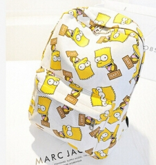2018 new women printing backpack fashion shoulder bag casual schoolbags   Graffiti unisex rucksack white 27cm×42cm×10cm