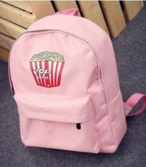 2018 Hot Women Girls school bags Canvas Shoulder Bookbags School Travel Bag pink 29cm×35cm×10cm