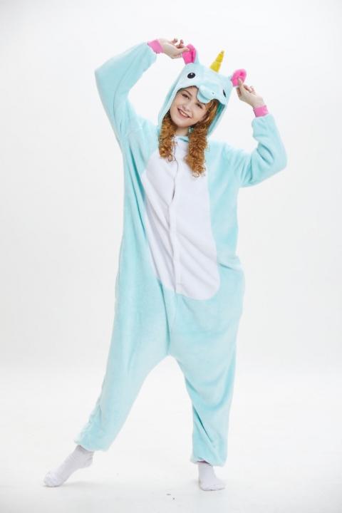 795a5c505d Unicorn Panda Bear Koala Pikachu Adult Unisex Cosplay Costume Pajamas  Sleepwear For Men Women color12 m