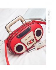 2018 summer new portable letter box bag female fashion Korean style handbag chain shoulder bag red 23cm x 8.5cm x 13cm