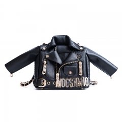 Lovely creative suit small square bag fashionable personality women's bag rivet crossbody bag black 18cm x 9cm x 15cm