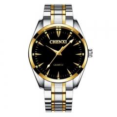 Business men's watch birthday gifts CHENXI waterproof luminous quartz watch CX-006A gold black free size