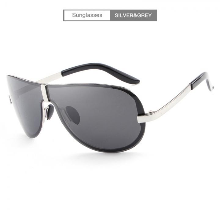 2981618c2d4 New popular classic frameless fashion sunglasses frog mirror polarizer men s  sunglasses glasses E008 silvery-black