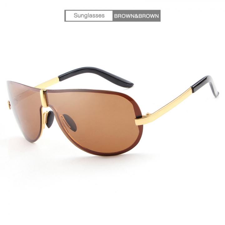 91983d3eaaa New popular classic frameless fashion sunglasses frog mirror polarizer men s  sunglasses glasses E008 brown-brown