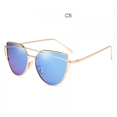 2018 new fashion trend sunglasses metal color film glasses to the retro Korean cool sunglasses SC013 colour 001 free size