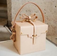 2018 new gift box ladies handbag women's bow drawstring shoulder small square bag pink 14.5cm x 14cm x 13.5cm