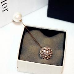 New fashion brooch exquisite temperament wild imitation pearl inlaid brooch broccoli picture color 9.5cm×2.2cm