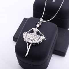 Sweater chain long fashion ballerina girl necklace accessories female new pendant photo color 81cm