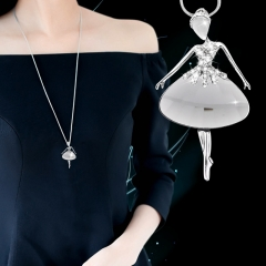 Skirt pendant autumn and winter simple accessories women with clothes sweater chain long decorations photo color 75cm