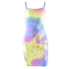 Fluorescent camouflage suspended dress s 1